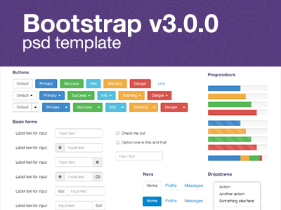 Free PSD-Bootstrap UI Mockup Template