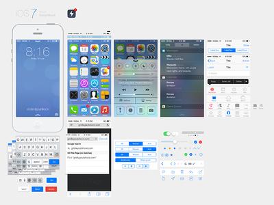 Free PSD Interface Design-iOS7 Ui Kit Download