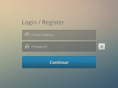 Free Register Login Screen PSD