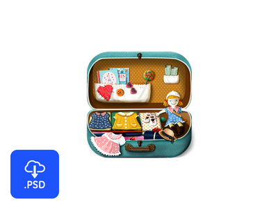 Free Suitcase icon PSD