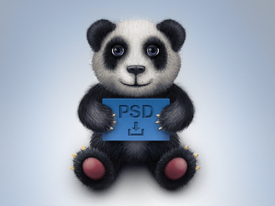 Free Toy Panda Icon PSD