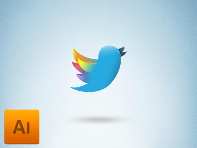 Free Twitter Icon logo Vector