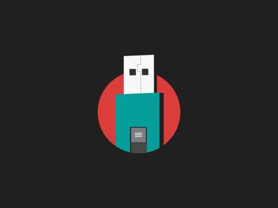 Free USB Drive icon PSD