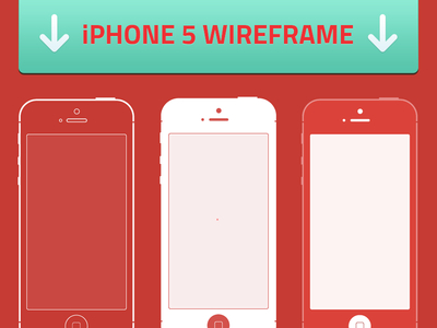 Free iOS iPhone 5 Wireframes Template Vector