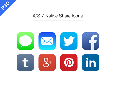 Freebie-iOS 7 Social Icons PSD
