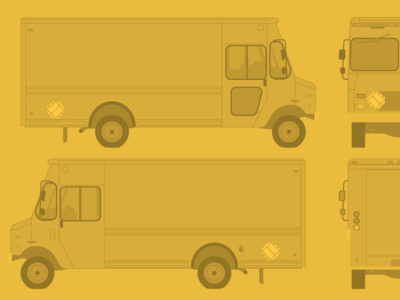 Vehicle Wrap Template-Free Vector Food Truck Template