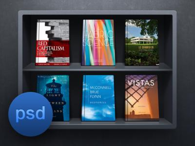 iOS Bookshelf Ui PSD