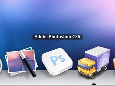 Adobe photoshop cs6 icon PSD