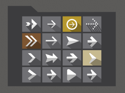 Arrows icon Set PSD