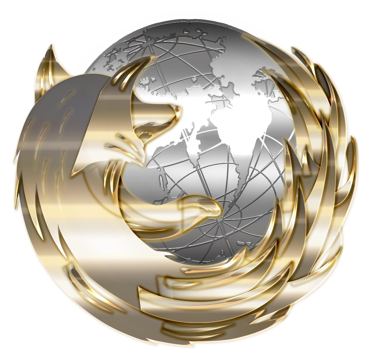 Awesome Gold Silver Firefox Icon