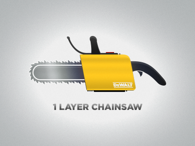 Chainsaw PSD-Single Photoshop Vector layer