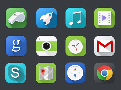 Cool Premium Flat icons PSD For Free