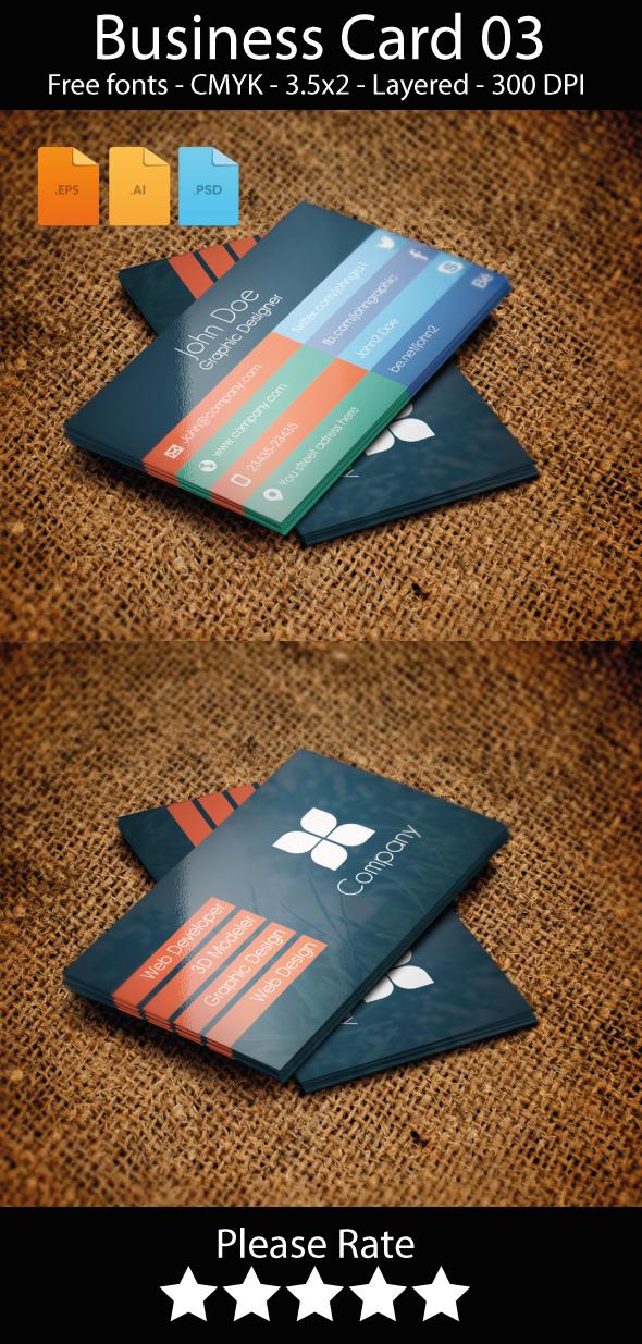 Flat Business Card Mockup Template PSD vector