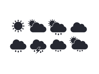 Flat Weather Icons Vector (eps)