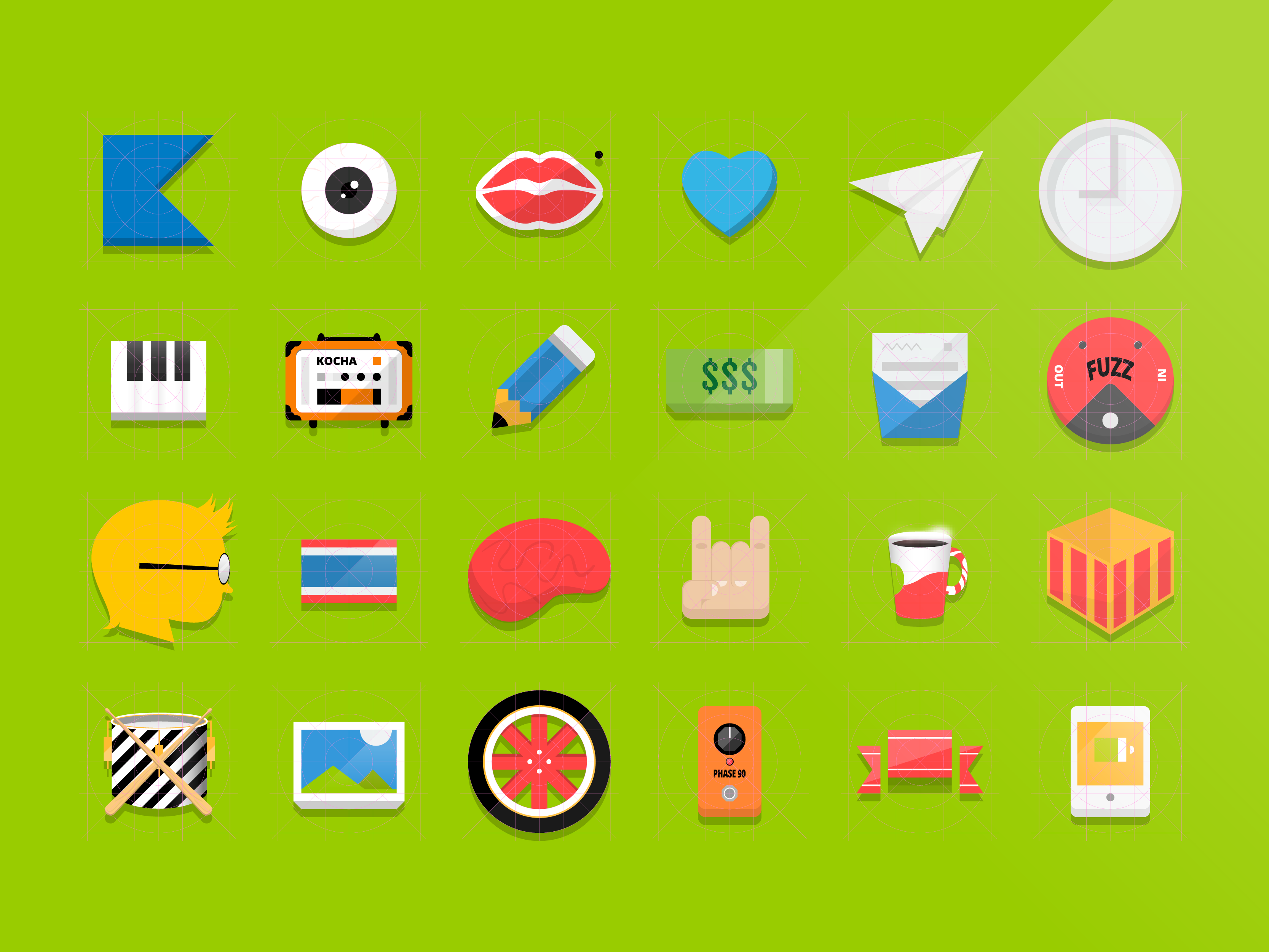 Flat icons Vector (illustrator ai file)