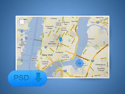 Free Map PSD