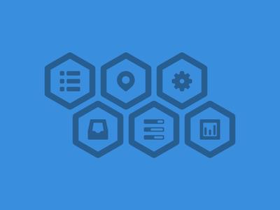 Free PSD-Hexagon icons
