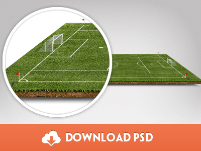 Freebie - Football Pitch PSD