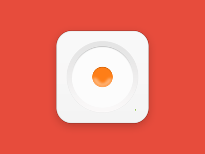 Fried Egg Icon PSD