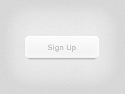 Icy White Button -Sign up PSD