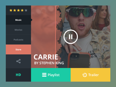 Music Widget PSD