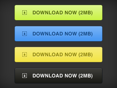 PSD Download Buttons (4 Colors)