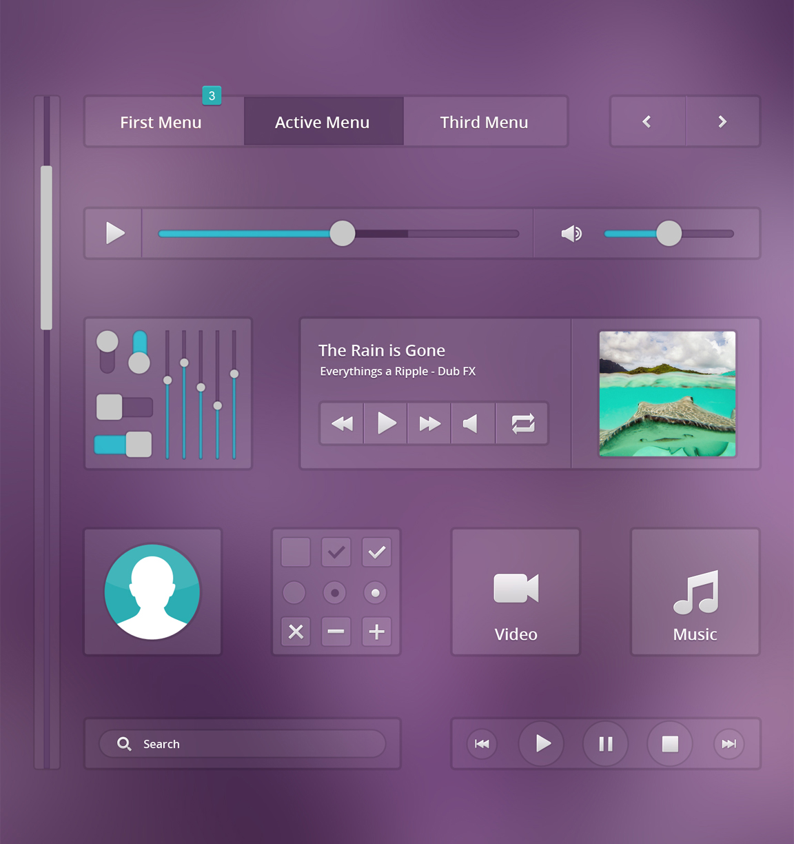 PSD-Music UI Elements and Design