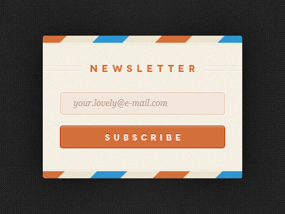 PSD-Subscribe To Newsletter Form