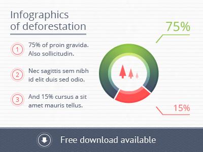 PSD Template of Infographics Circles