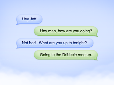 Cloud Chat Bubbles PSD