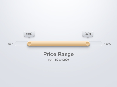 Price Range Slider PSD – Free PSD,Vector,Icons