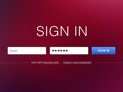 Simple Sign in Form PSD