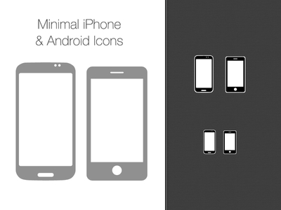 Vector Iphone Android Icons PSD