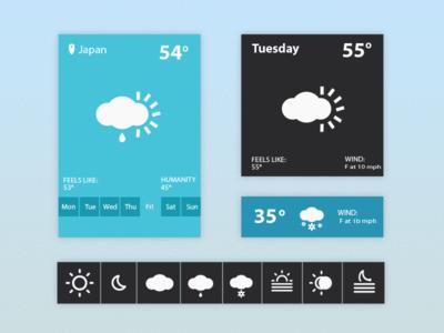 Weather Widget UI PSD