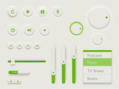 Web Design UI Kit PSD