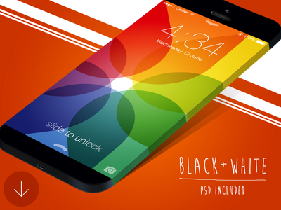Wide iPhone Mockup Template