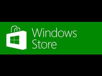 Windows Store Badge Vector PSD