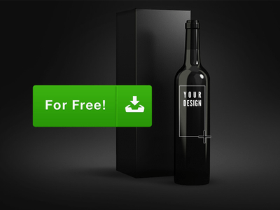 Wine Bottles Mockup Template PSD