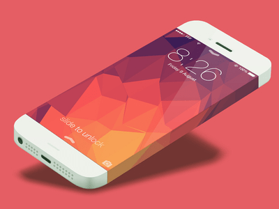 iOS Iphone 6 Infinity Mockup Template