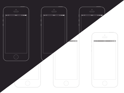 iPhone Wireframe Template   sketch    Free PSD Vector Icons Tags  ios  iphone  template  wireframe