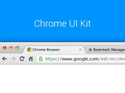 Browser Template Chrome UI Kit
