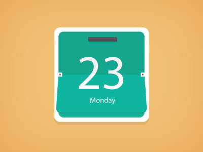 Calendar icon illustration PSD