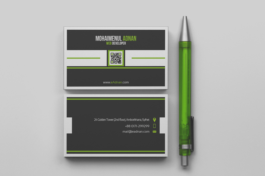 Corporate Business Card Template With Bleeds