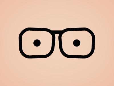 Flat Glasses illustration PSD