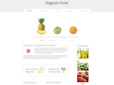 Food Free HTML5 Template PSD