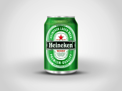 Free Beer PSD - Heineken Beer Bottle PSD