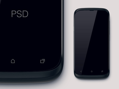 Free Mobile HTC Phone Mockup PSD
