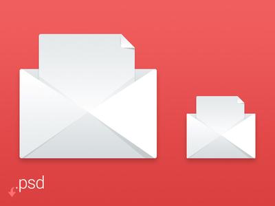 Freebie - Envelope Icon PSD