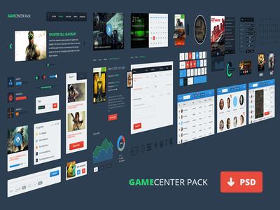 Game Center UI PSD