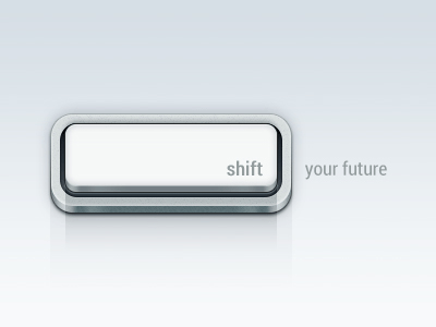 Shift Key Button PSD